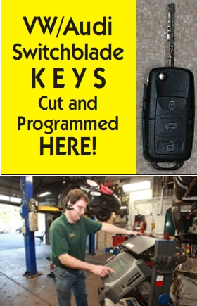 VW/Audi Switchblade Keys Cut and Programmed Here!