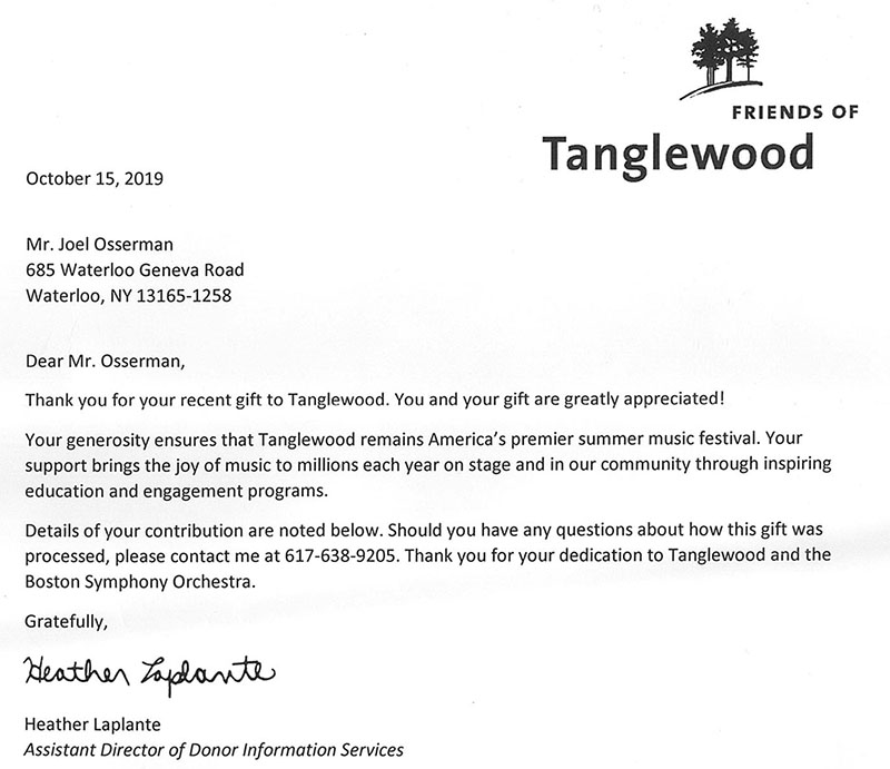 Select EuroCars, Inc Supports Tanglewood